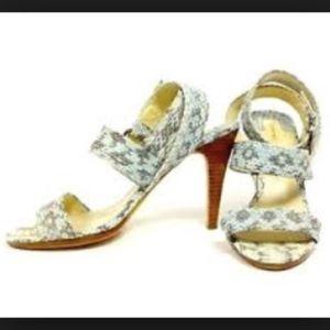 Blue skin snake Max Studio heeled Sandals